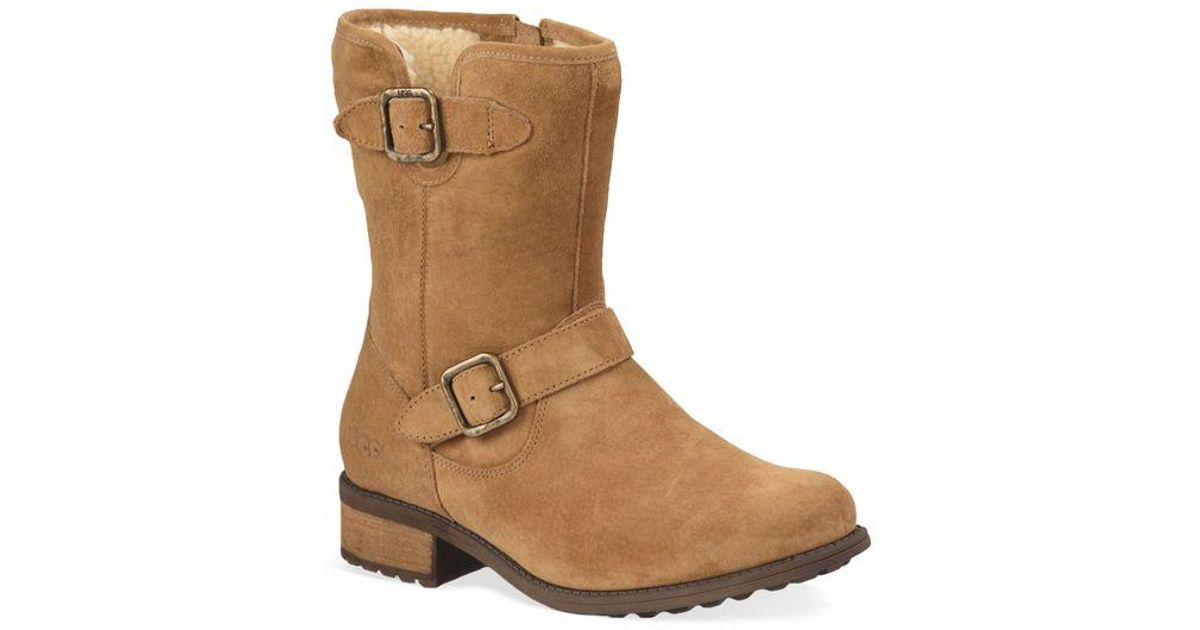 5906834e314 Ugg - Brown Chaney Suede & Pure Moto Boots - Lyst