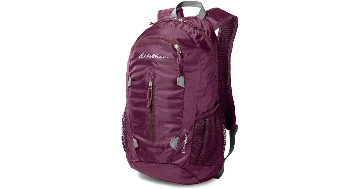 Lyst - Eddie Bauer Stowaway Packable 20l Daypack in Purple 62a9617b05e2d