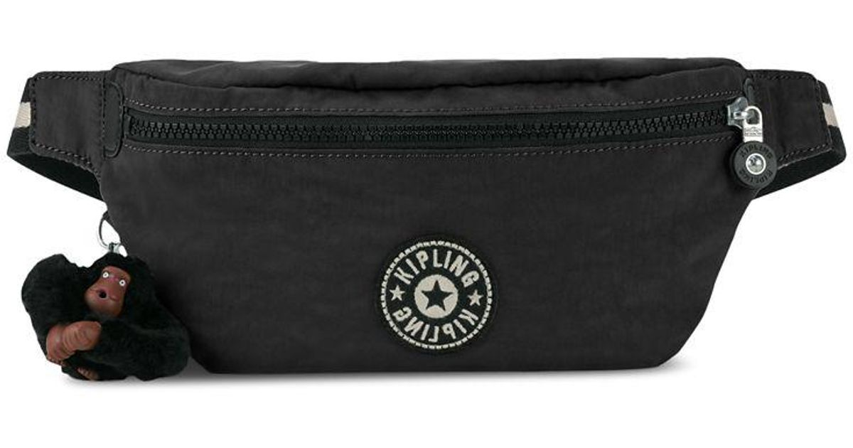 cf8fcc36236 Kipling Breah Zip Fanny Pack in Black - Lyst