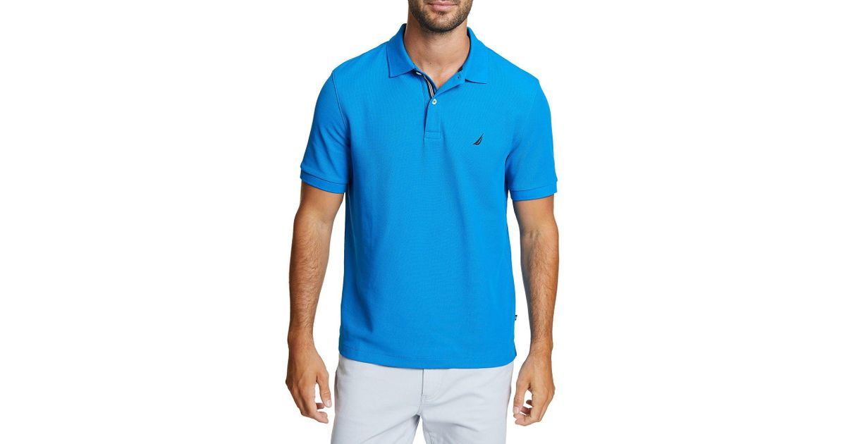 a2f7bf8b8 Lyst - Nautica Classic-fit Deck Polo in Blue for Men