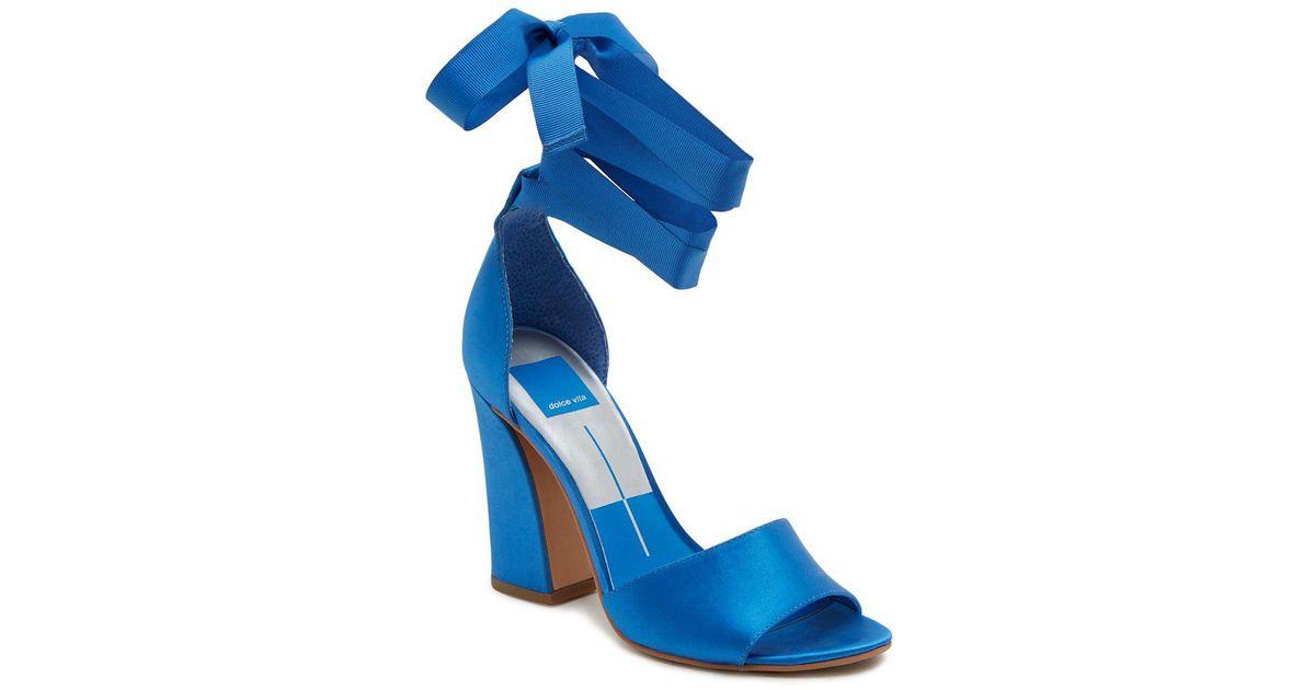 5901db0826 Dolce Vita Harvey Block Heel Sandals in Blue - Lyst