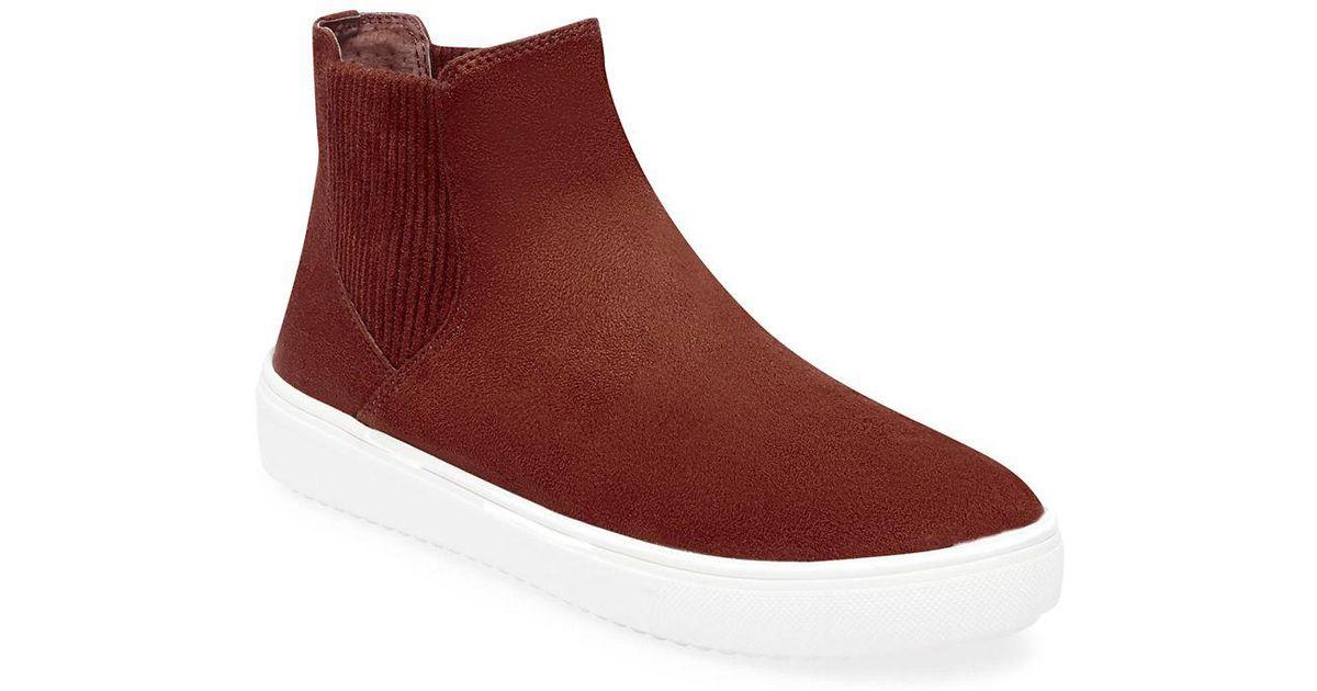 786d2379269 Steven by Steve Madden Brown Clarita High-top Sneakers