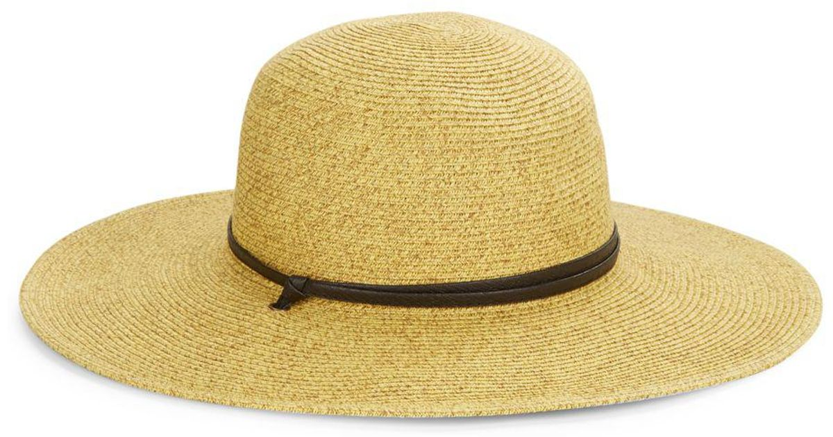 Lyst - San Diego Hat Company Leather Banded Rancher in Yellow 0dc8ec451cc