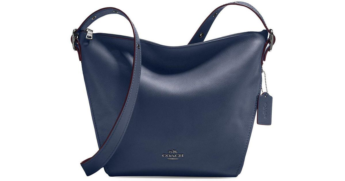 cc97d1b0ec1e Coach Leather Dufflette Bag in Blue - Lyst