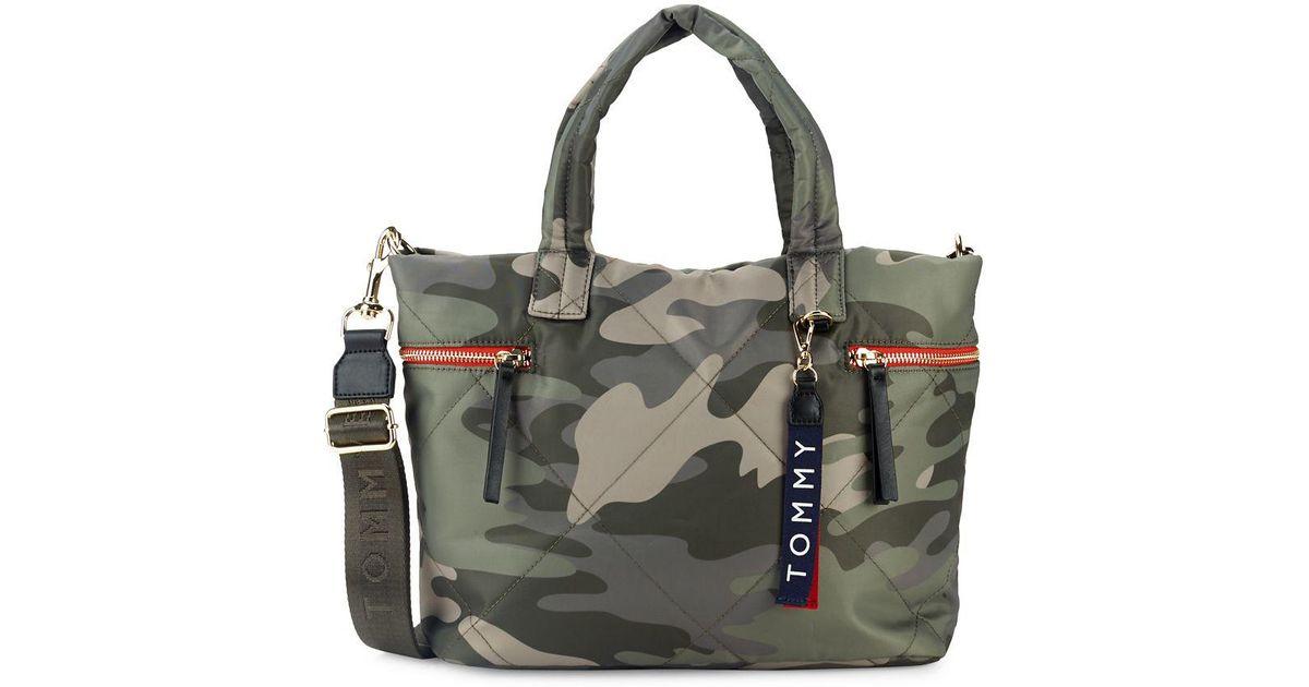 32ce5f75 Tommy Hilfiger Kensington Camo-printed Shopper Bag in Green - Lyst
