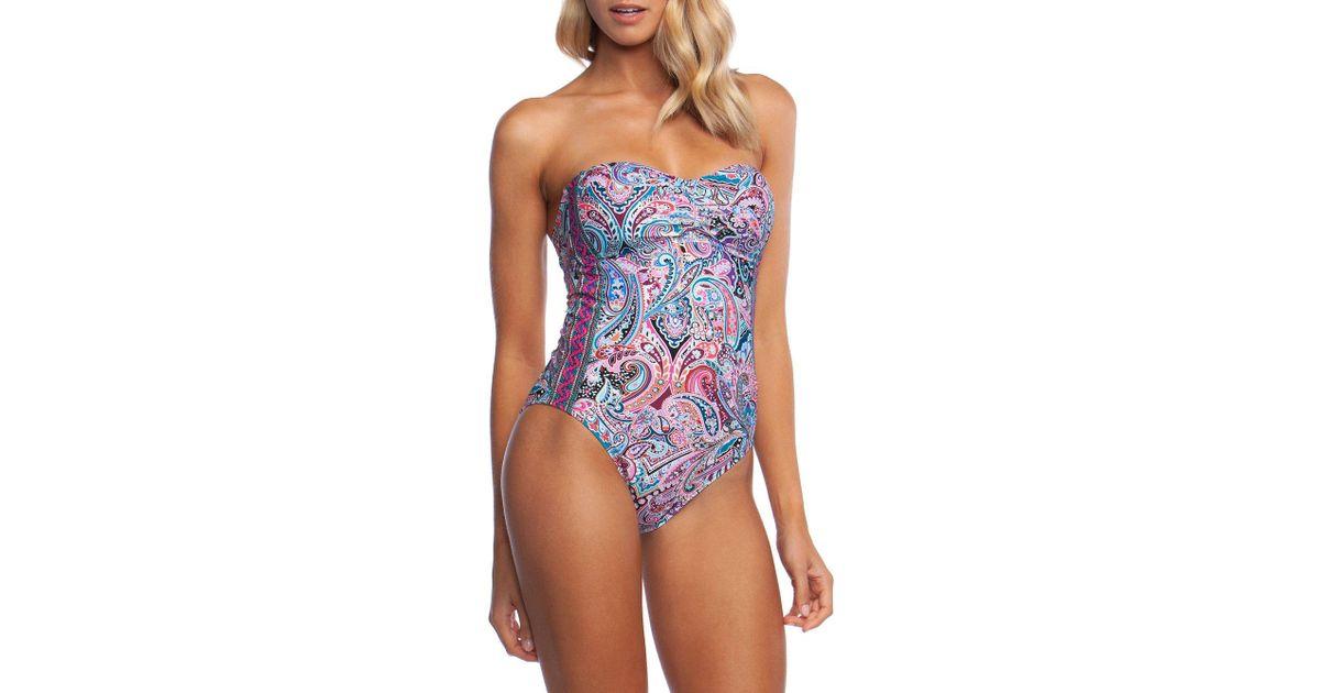 81dcf47f39355 Lyst - La Blanca Swirlin Around One-piece Swimsuit in Blue