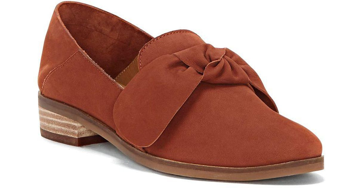 d0467907fa8 Lyst - Lucky Brand Cozzmo Leather Knot Loafers in Brown