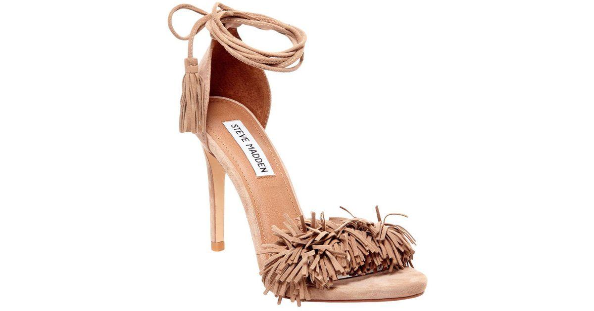 a13078142bd Steve Madden Multicolor Sassey Fringe Sandals