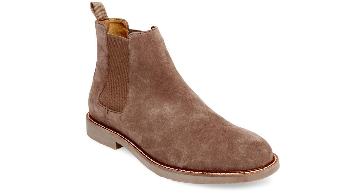 50% price online for sale aliexpress Steve Madden Highline Suede Chelsea Boots in Taupe (Brown) for Men ...