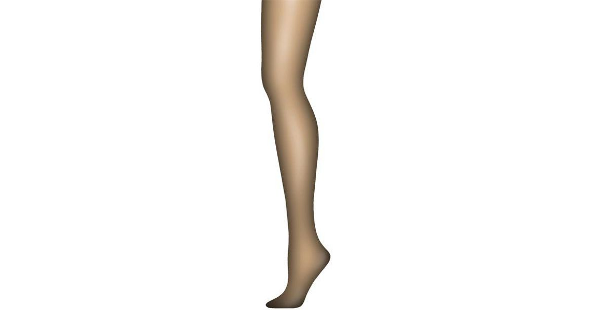 928d79bc56f5c Lyst - Hanes Silk Reflections Ultra Sheer Tights With Control Top in Black
