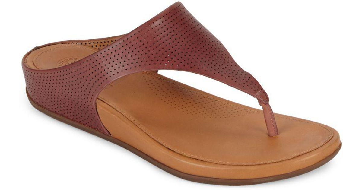 Perforated Fitflop Lyst Thong Brown Tm Banda Sandals Toe vgb7fyY6