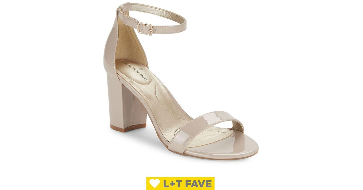 bfe53e2382 Lyst - Bandolino Armory Block-heel Sandals in Natural