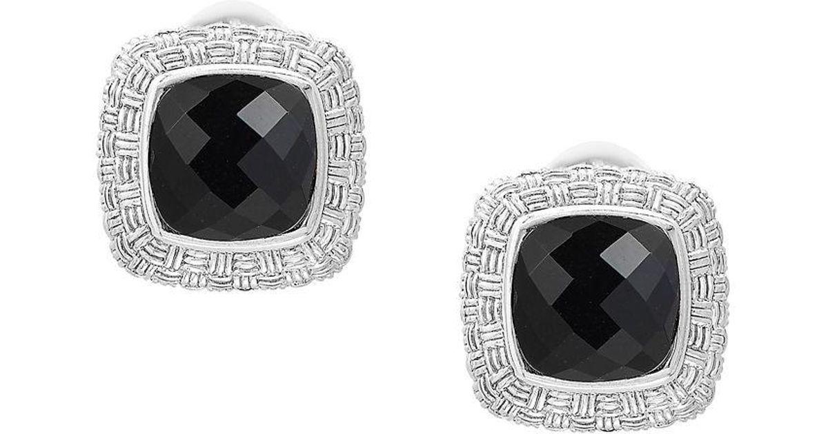 50fcea150 Effy Black Onyx & Sterling Silver Earrings in Black - Lyst