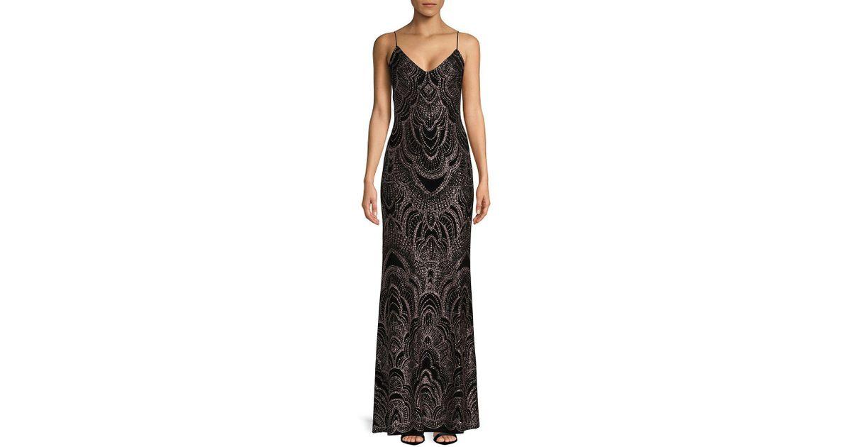 Lyst - Jump Embossed Floor-length Gown in Black