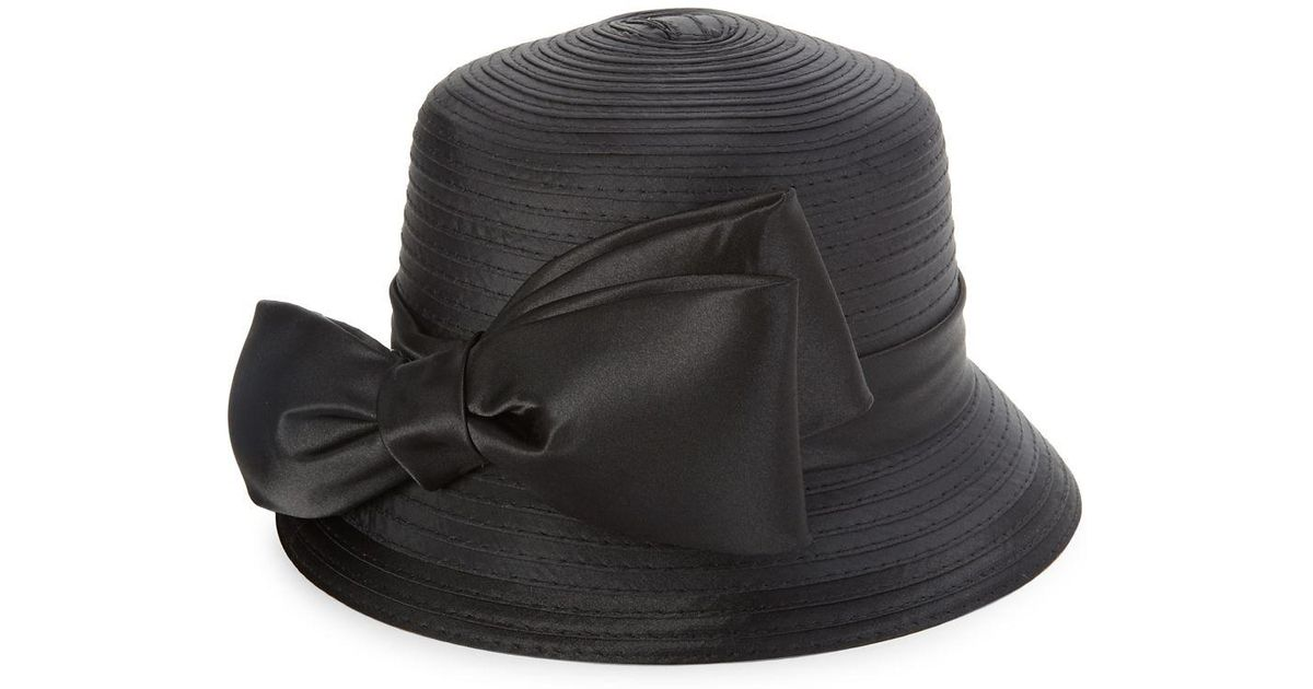 Lyst - Giovannio Bow Bucket Hat in Black 54504a5e8c9