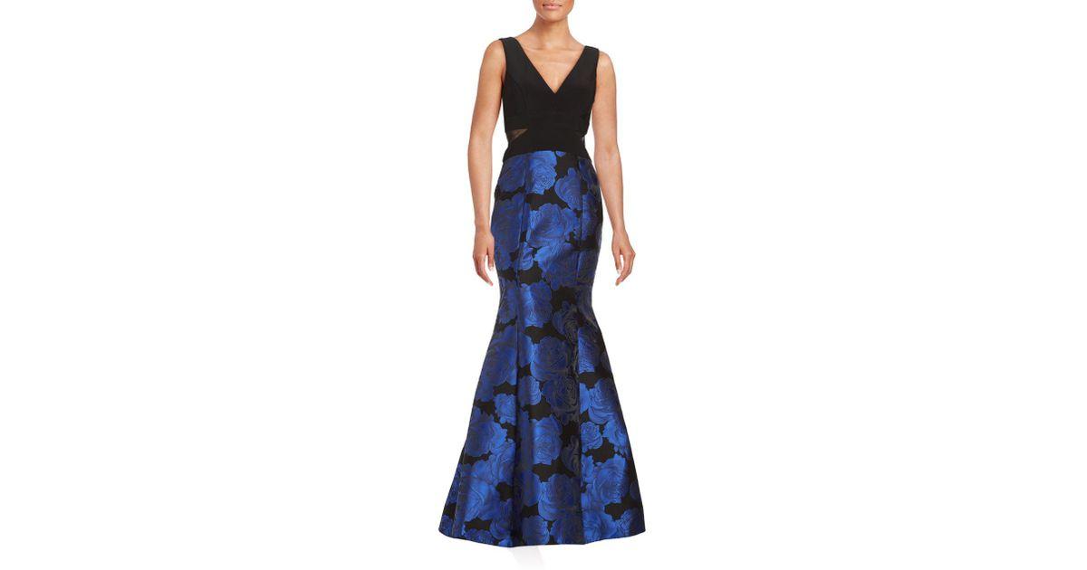 Xscape black lace mermaid dress