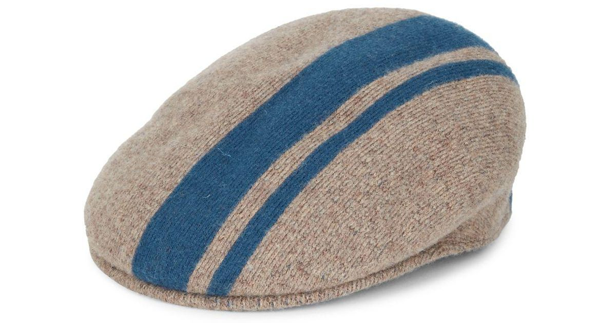 7f1e24681b5c6 Kangol Stripe Newsboy Cap in Blue for Men - Lyst