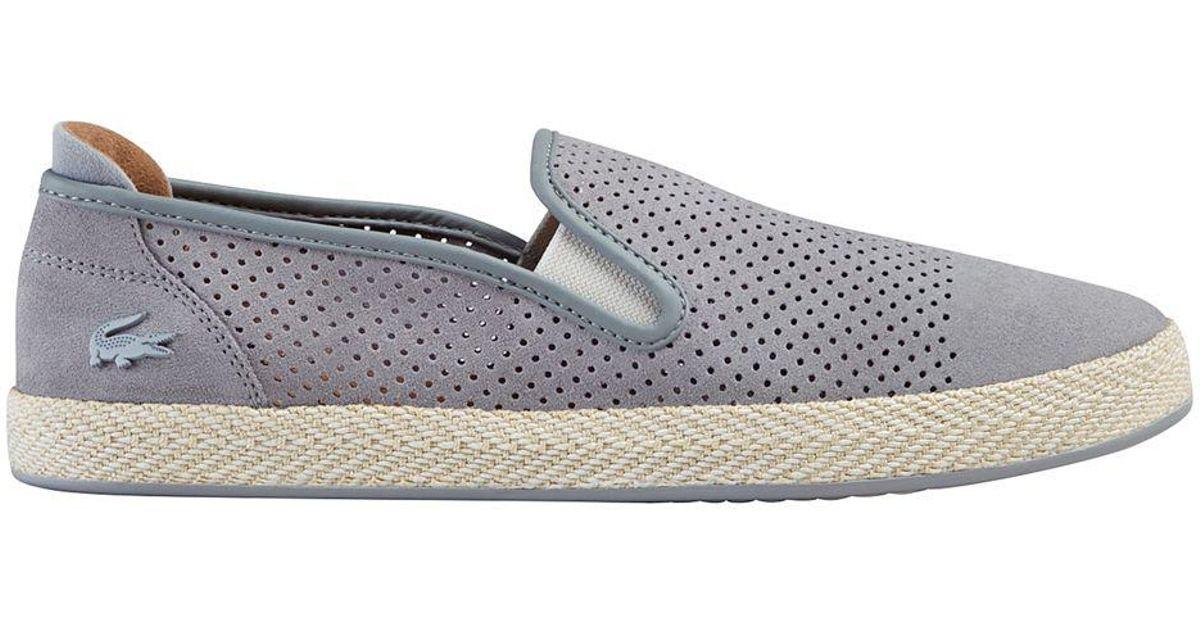 b9d438e0dee49 Lacoste - Gray Tombre Slip-on Shoes for Men - Lyst