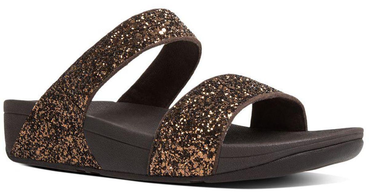 f6b3f6472840 Lyst - Fitflop Glitterball Tm Slide Sandals in Brown