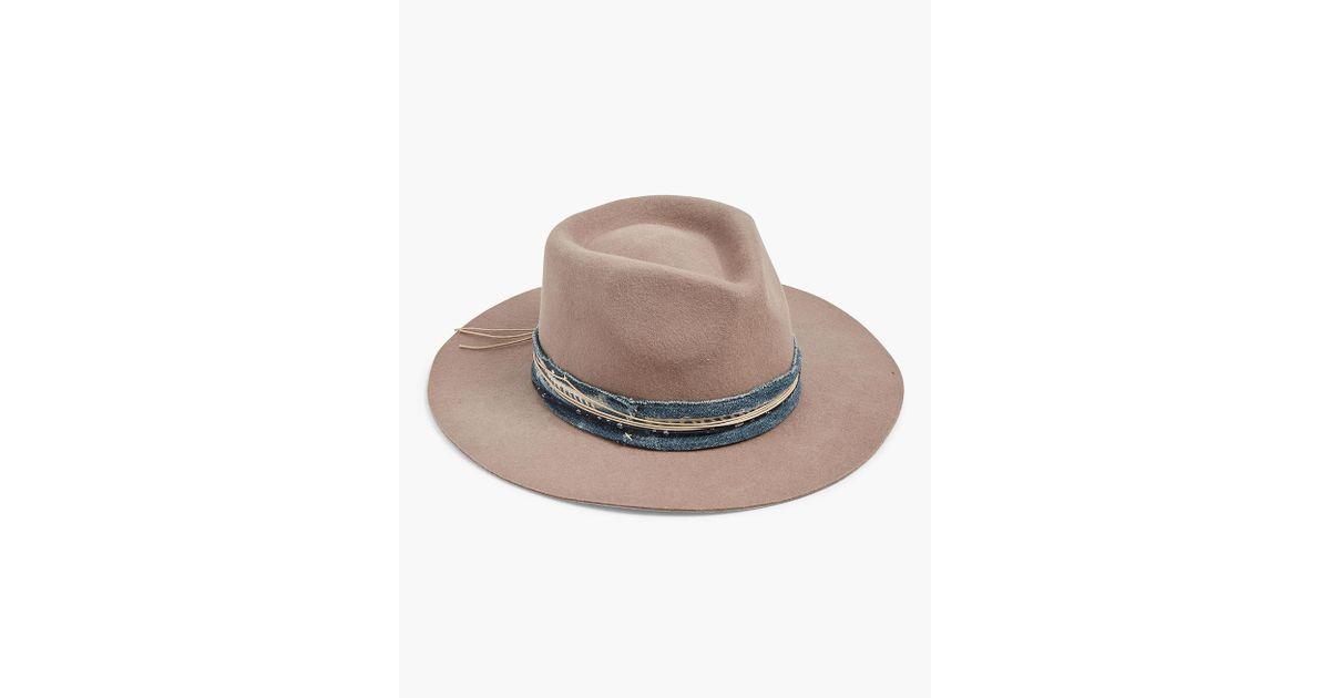 Lyst - Lucky Brand Indigo Stitch Wool Hat d3387b5d09a4