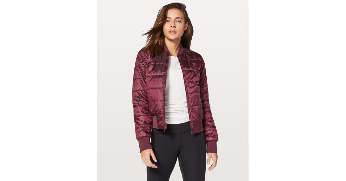 5b5927db4 lululemon athletica Red Non-stop Bomber