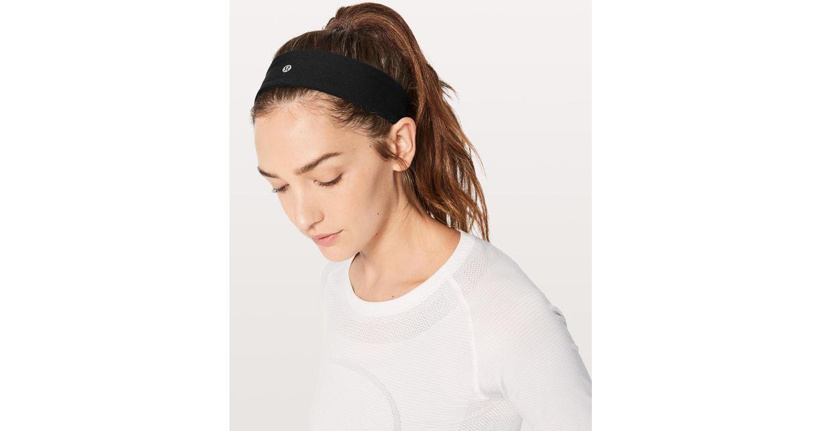 Lululemon Athletica Fly Away Tamer Headband Ii in Black - Lyst bac2717cef9
