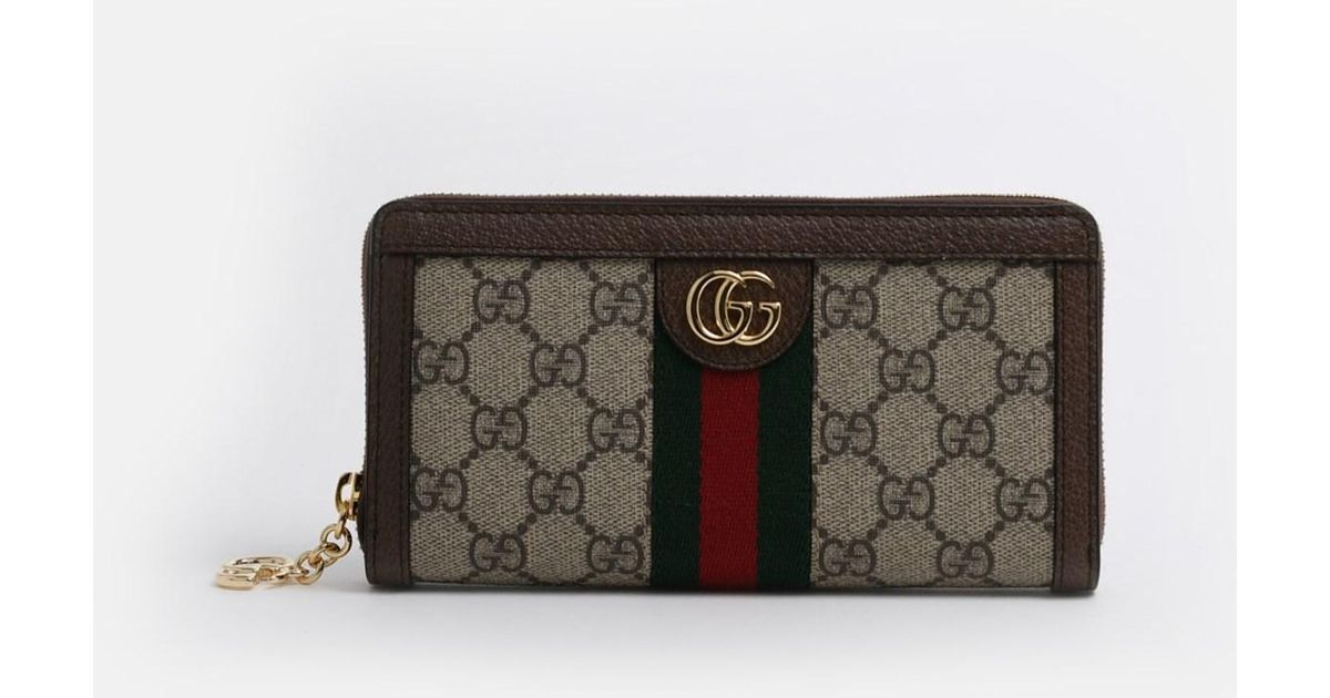 f1237b209 Gucci Portafoglio Ophidia GG Supreme - Lyst