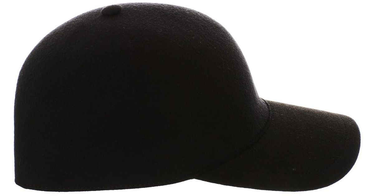 Lyst - Burberry Black Moulded Baseball Cap in Black 01b673cceee