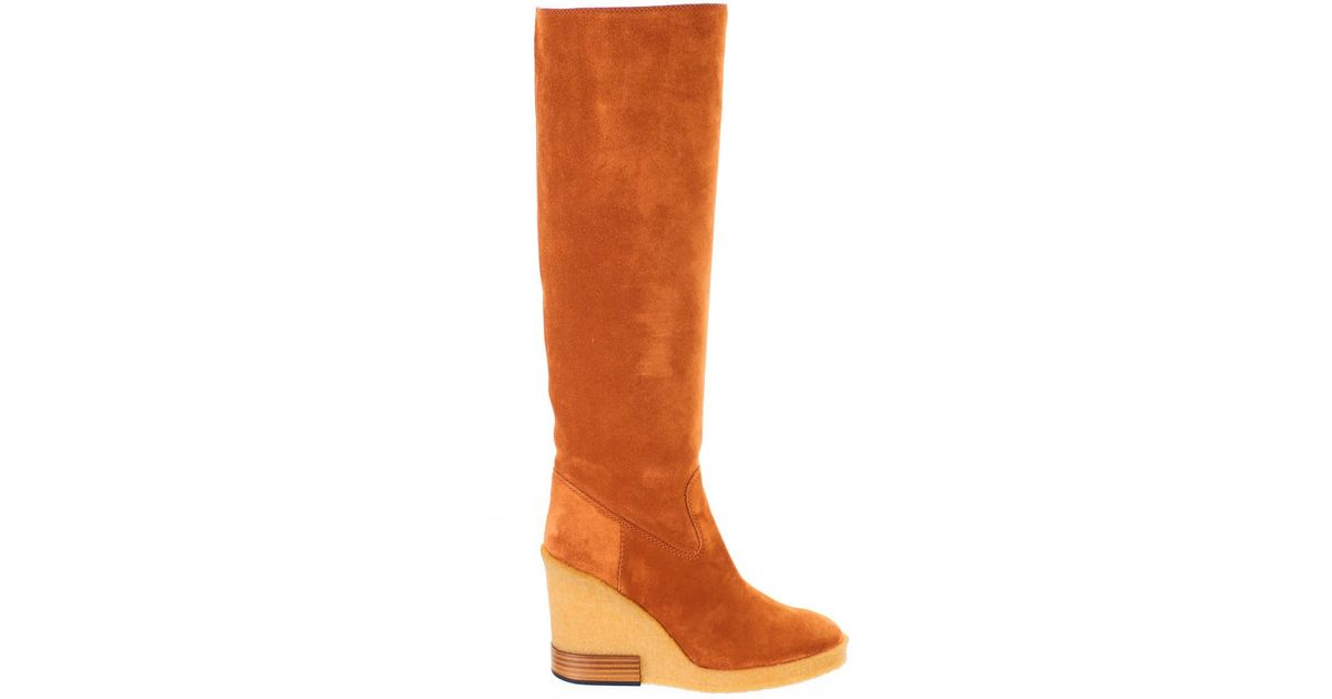 pick up super specials latest fashion Tod's Suede Dark Rust Boots in Brown - Lyst