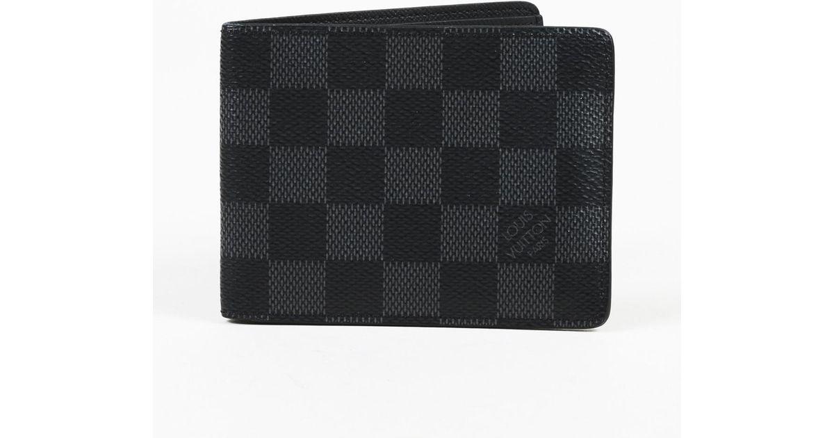 709d24d8f844 Lyst - Louis Vuitton Damier Graphite Coated Canvas