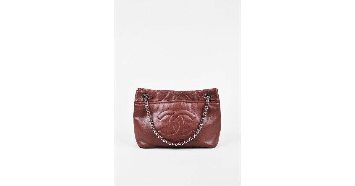 ecfed5449e0e Chanel Dark Red Caviar Leather