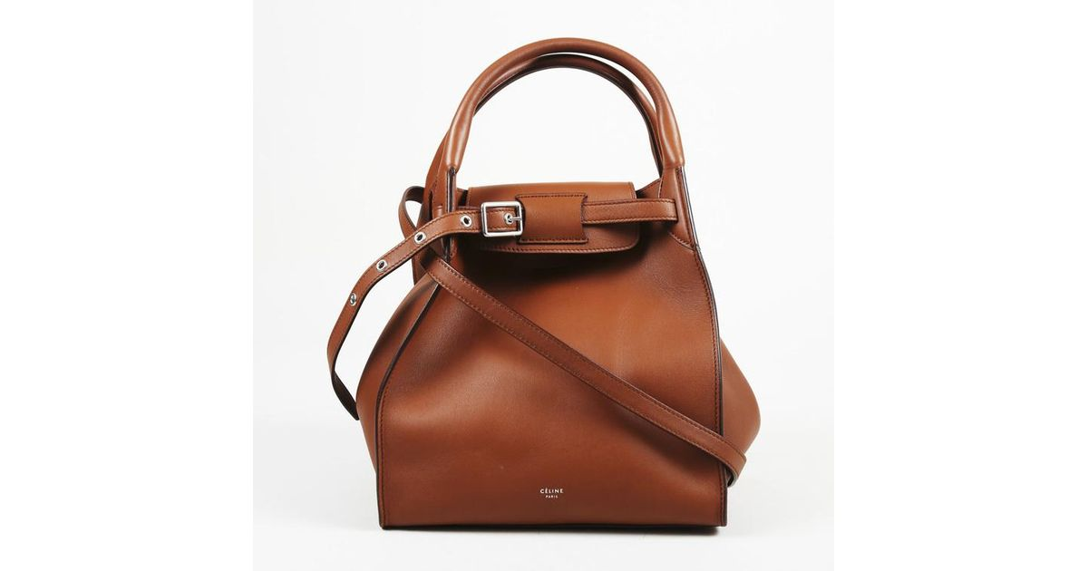 Lyst - Céline Brown Leather Small