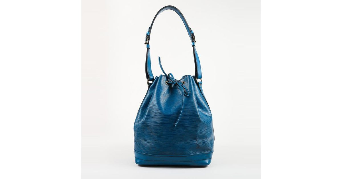 Louis Vuitton Vintage 1989 Blue Epi Leather Drawstring Noe Gm Bucket Bag