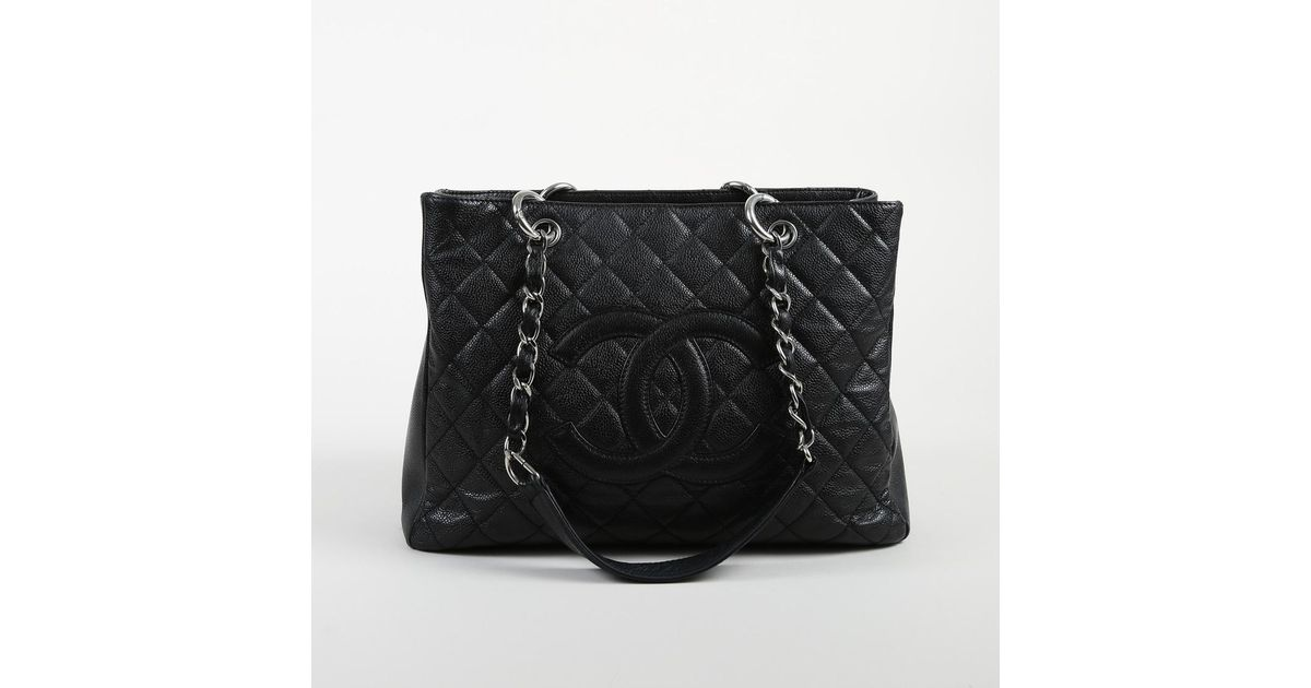 4a49009e0 Chanel Black Caviar Leather Quilted 'cc'