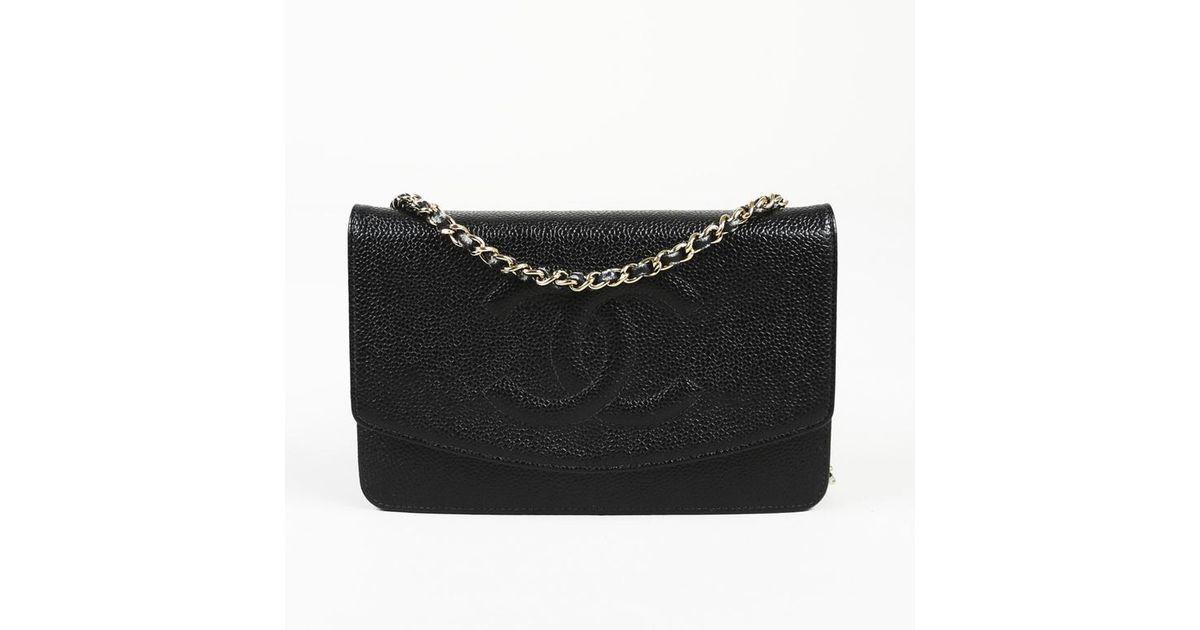 b04c07432a6b Lyst - Chanel Caviar Leather