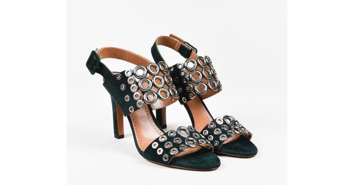 cheap visit Alaïa Suede Slingback Sandals online Shop DSttcqva