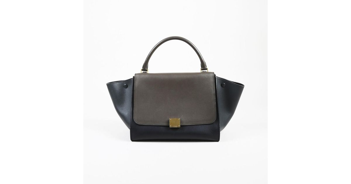 7685ed5123 Céline Gray Black Leather