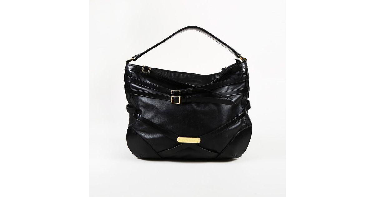 c89ab1fed077 Lyst - Burberry Black Leather Small