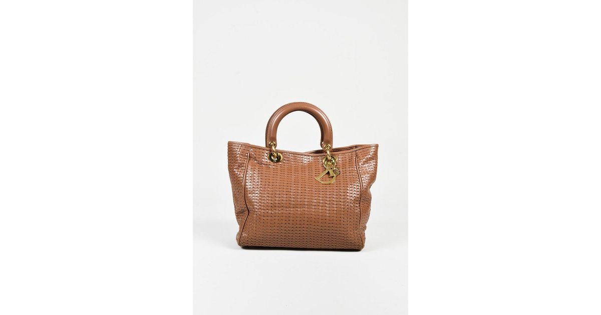 36920cae Dior Brown Woven Leather