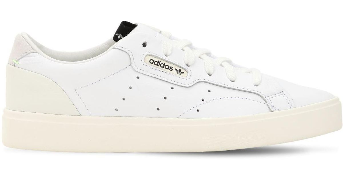30f9f0fde adidas Originals Sleek Leather Sneakers in White - Lyst