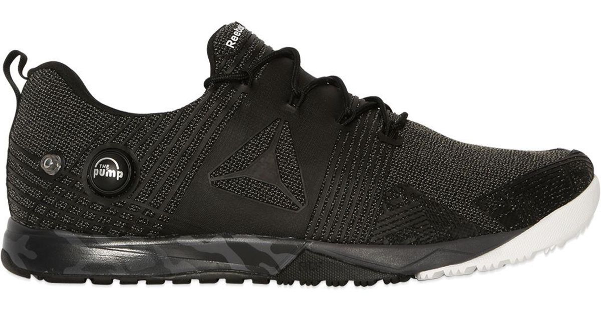 Reebok Black Crossfit Nano Pump Kevlar Sneakers for men
