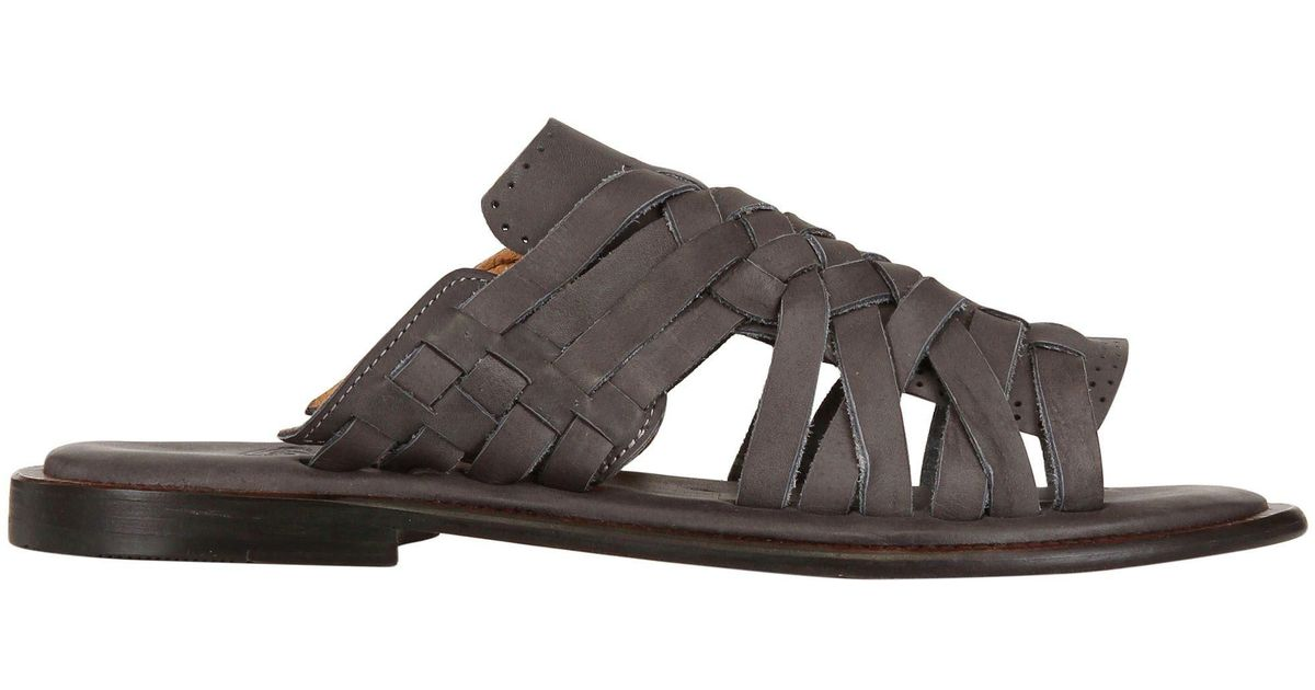 Gray Leather Lyst Sandals For Chubasco Woven Men Nubuck Hand kPZuiX