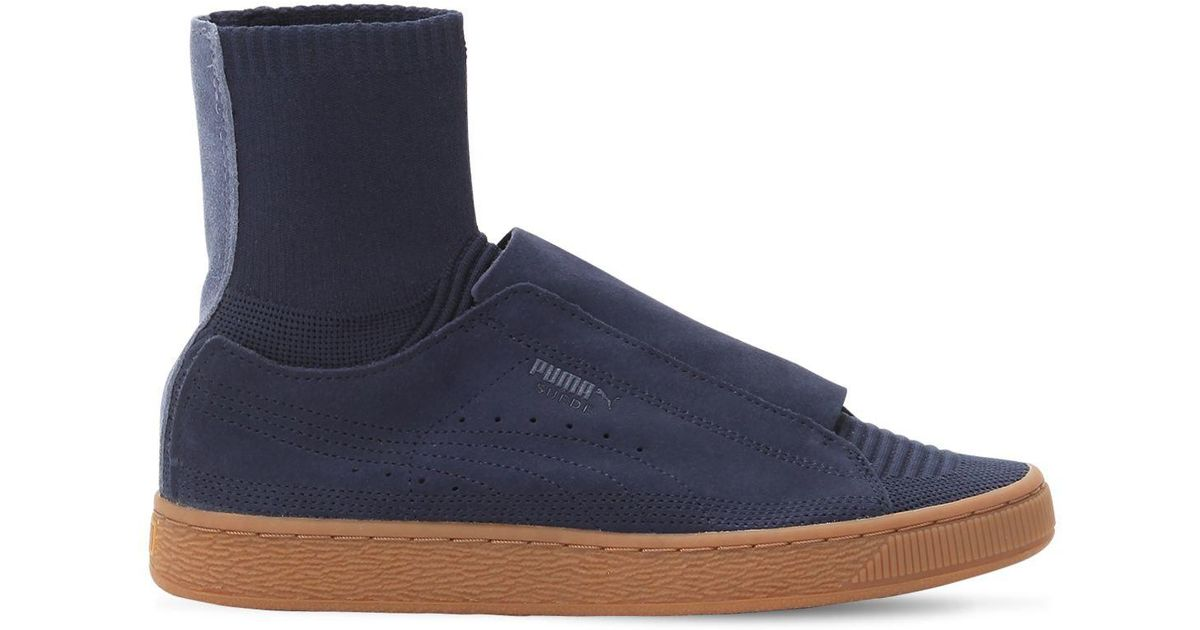832bd401d8ec Lyst - Puma Select Paul Stanley Suede Sneakers W  Sock in Blue for Men