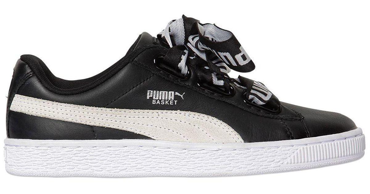 puma basket heart leather