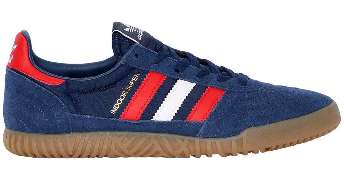 Adidas Originals Blue Indoor Super Suede Squash Sneakers for men