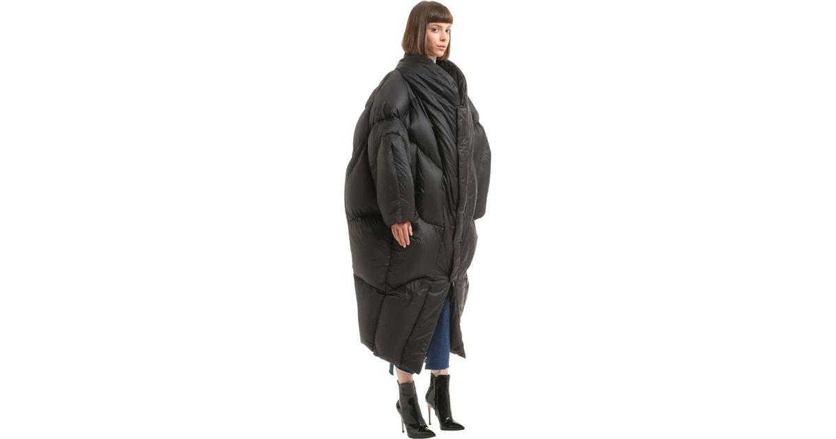02aae7032 Chenpeng Black Oversized Puffer Long Down Jacket