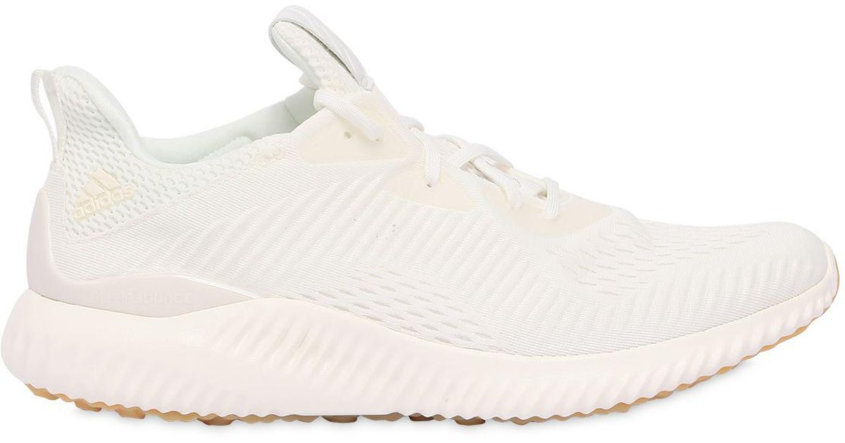 super popular 2bc3a 1a403 Lyst - adidas Originals Alphabounce Mesh Sneakers in White f