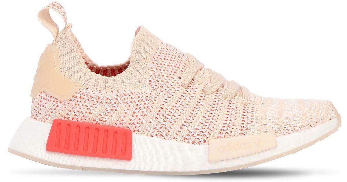 adidas originals beige nmd xr1 primeknit sneakers