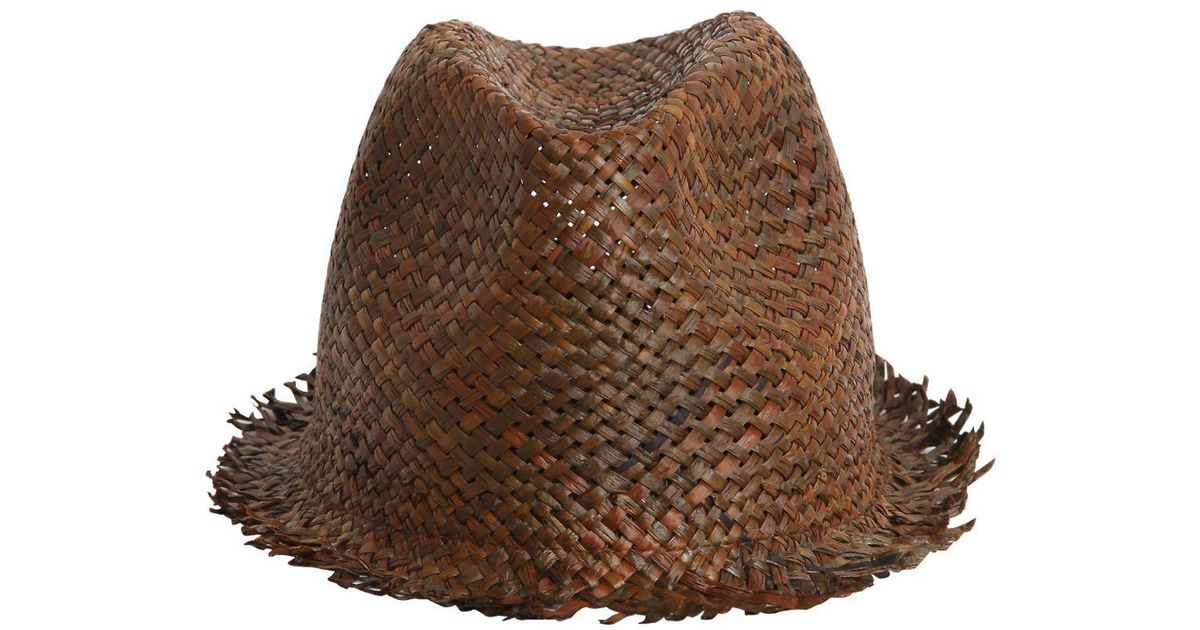 cea5384a017 Isabel Benenato Papyrus Woven Paper Hat in Brown for Men - Lyst