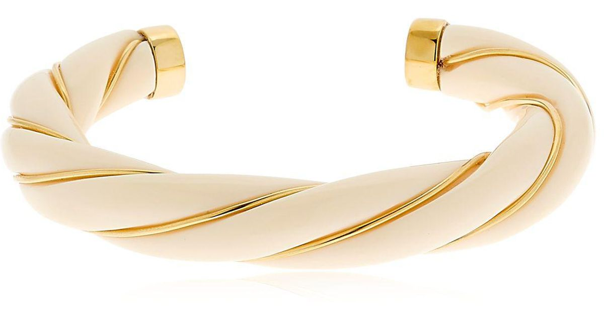 Aurélie Bidermann Diana Twisted Bracelet in Baby Blue 18K Gold-Plated Brass O3LKQyujs
